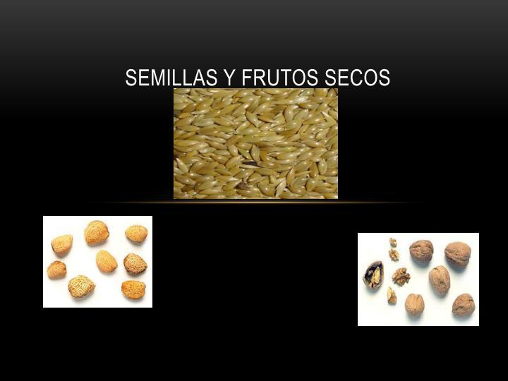 SEMILLAS Y FRUTOS SECOS
