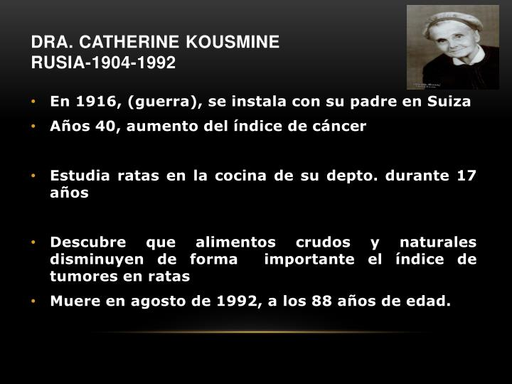 Dra. Catherine
