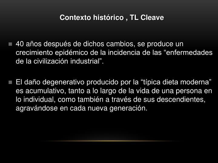Contexto histórico , TL