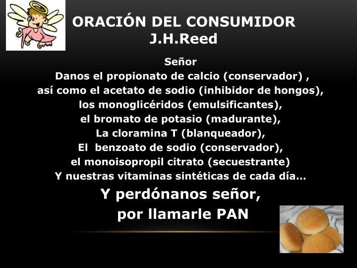 ORACIÓN DEL CONSUMIDOR