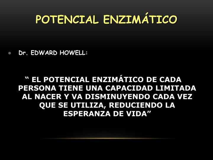 POTENCIAL ENZIMÁTICO