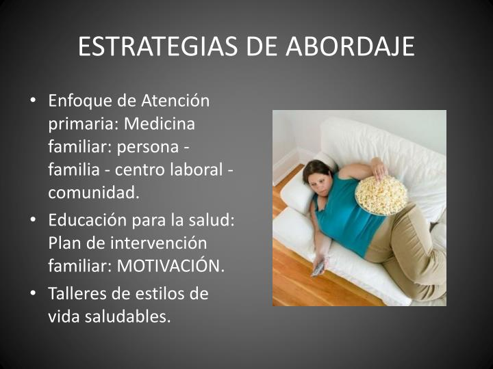 ESTRATEGIAS DE ABORDAJE