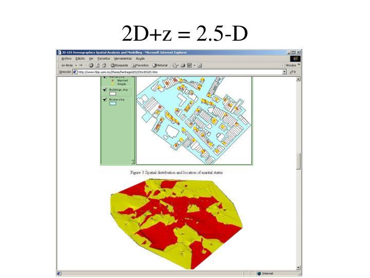 2D+z = 2.5-D