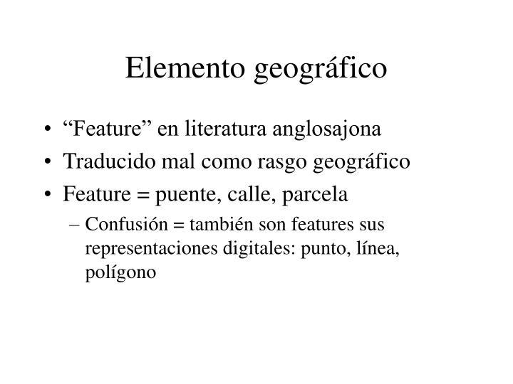Elemento geográfico