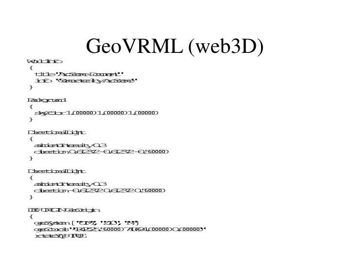 GeoVRML (web3D)