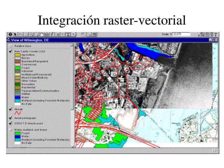 Integración raster-vectorial