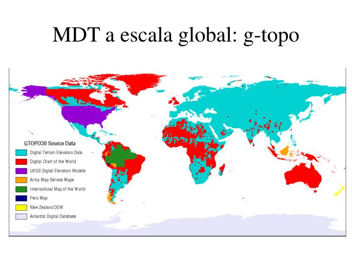 MDT a escala global: g-topo