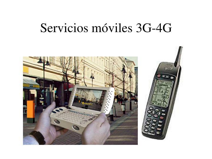 Servicios móviles 3G-4G
