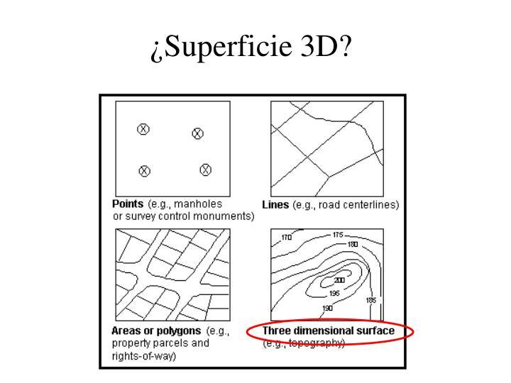 ¿Superficie 3D?