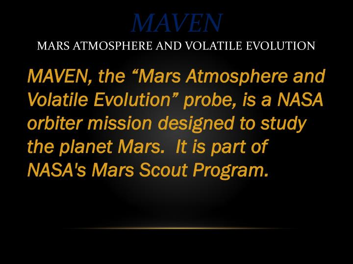 Maven mars atmosphere and volatile evolution2