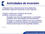actividades de inversi n1