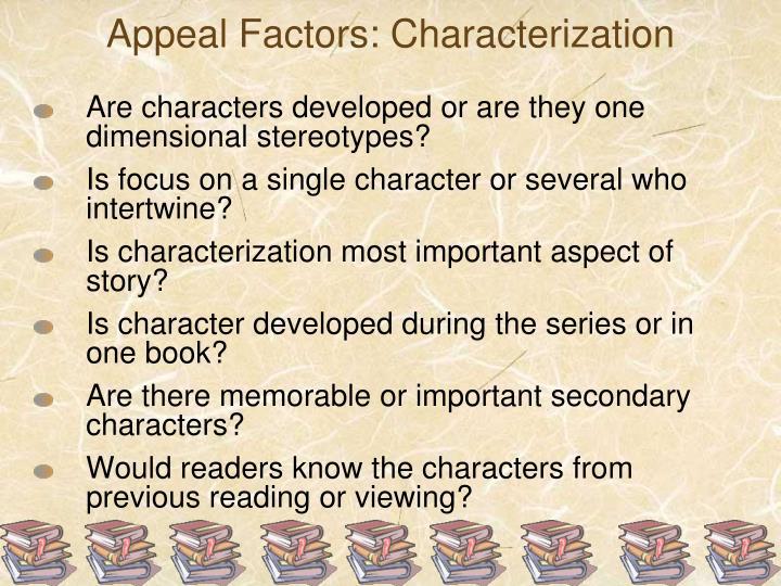Appeal Factors: Characterization