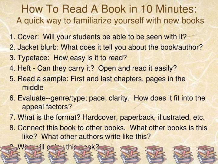 How To Read A Book in 10 Minutes: