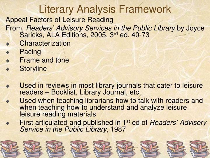Literary Analysis Framework