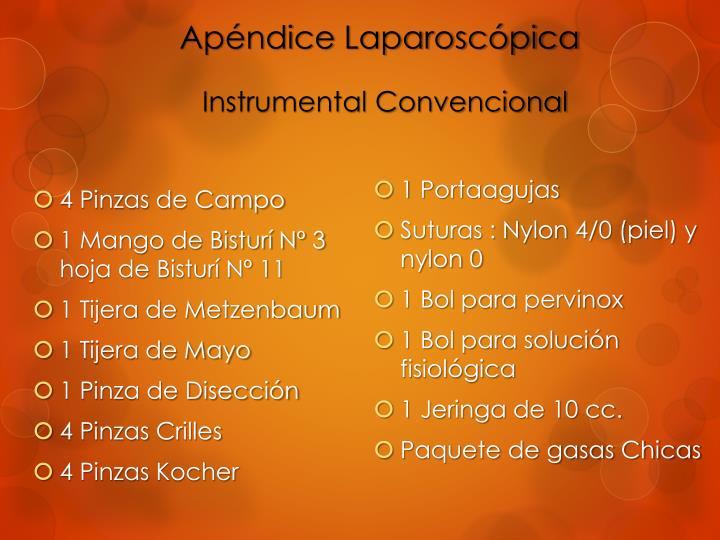Apéndice Laparoscópica