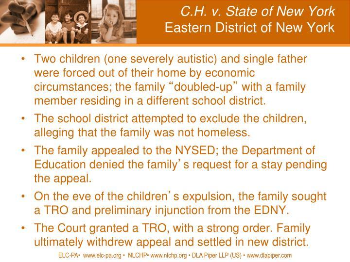 C.H. v. State of New York