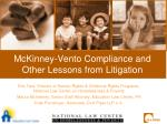 mckinney vento compliance and other lessons from litigation