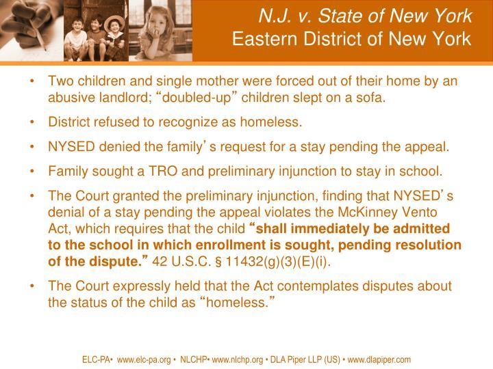 N.J. v. State of New York