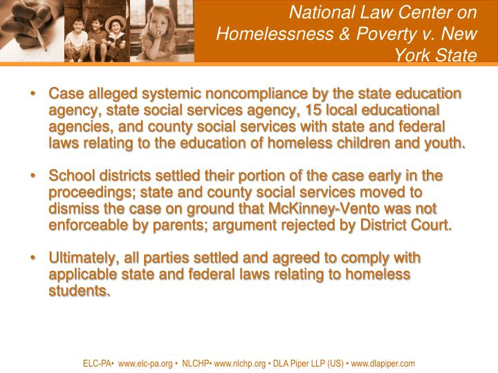 National Law Center on Homelessness & Poverty v. New York State