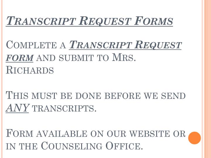 Transcript Request Forms