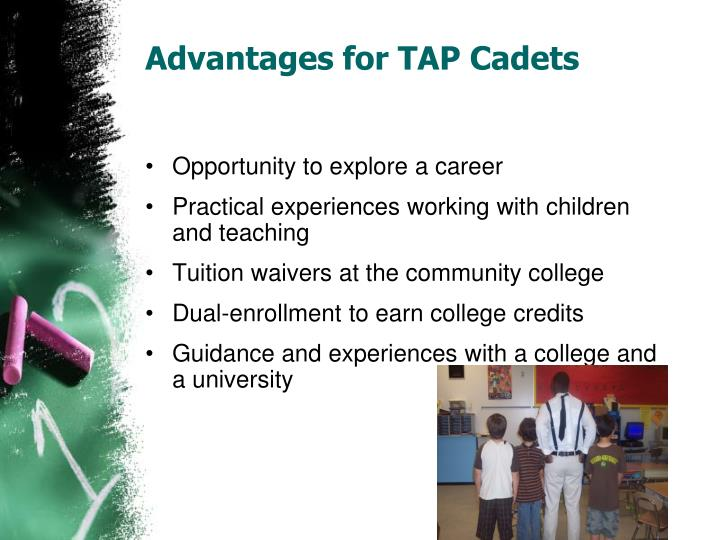Advantages for TAP Cadets