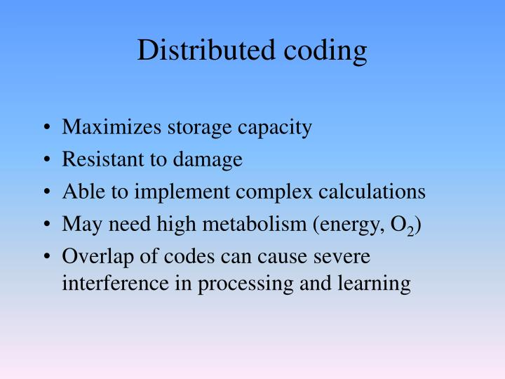 Distributed coding