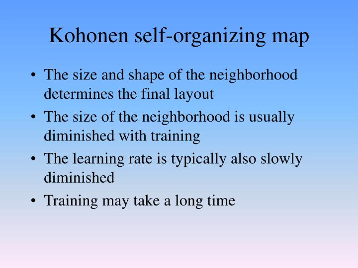 Kohonen self-organizing map
