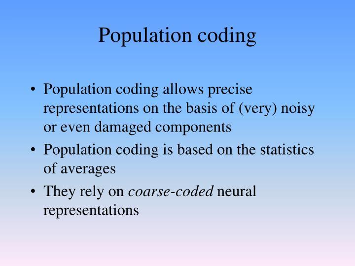 Population coding