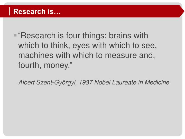 Research is…