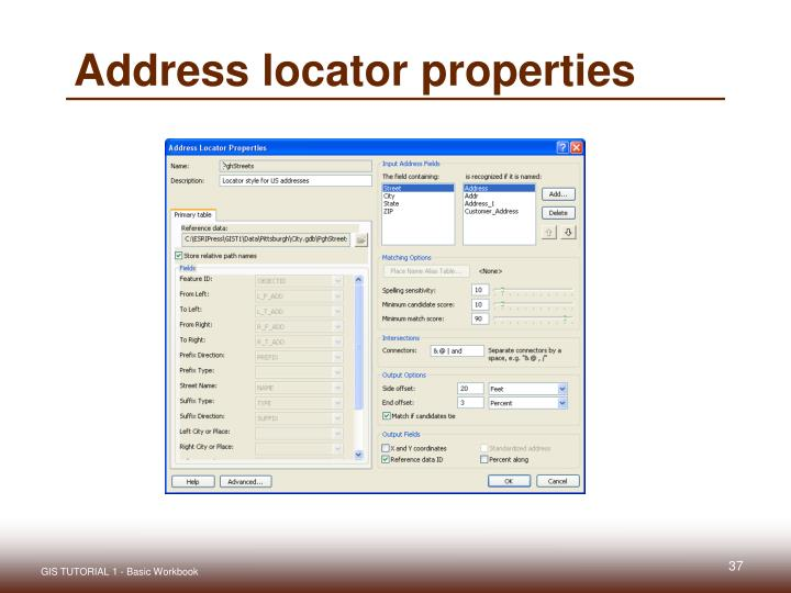 Address locator properties