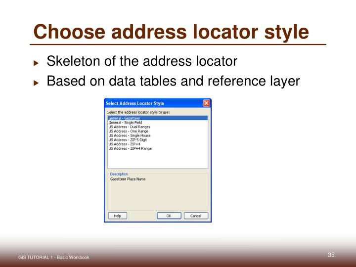 Choose address locator style