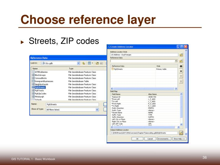Choose reference layer