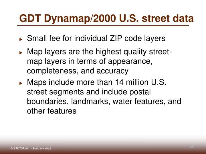 GDT Dynamap/2000 U.S. street data
