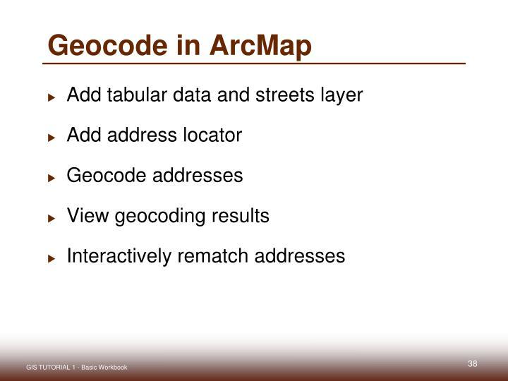 Geocode in ArcMap