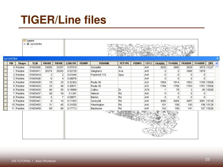 TIGER/Line files