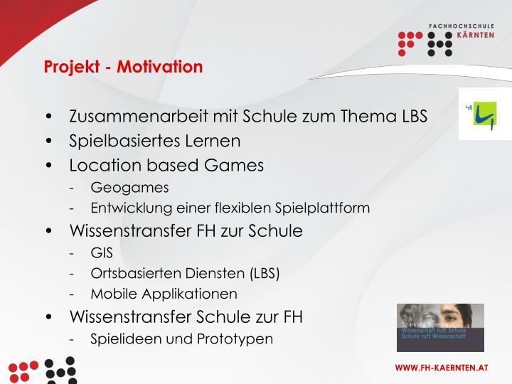 Projekt - Motivation