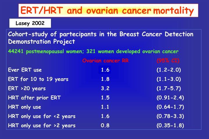 ERT/HRT and ovarian cancer