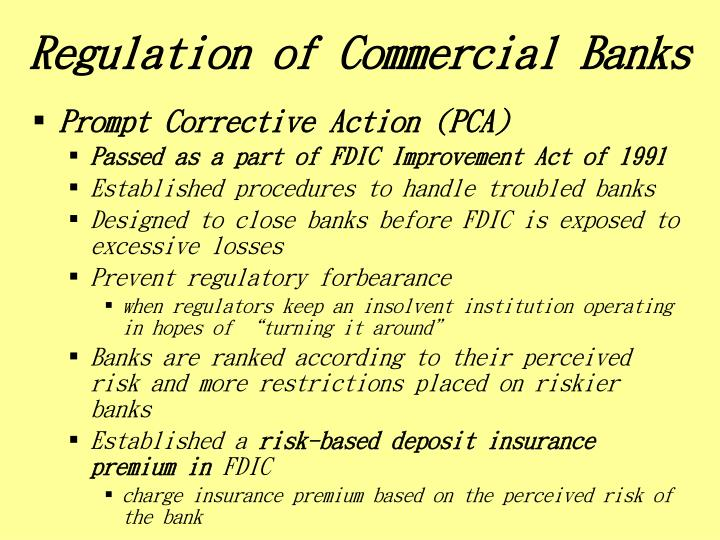 Regulation of Commercial Banks