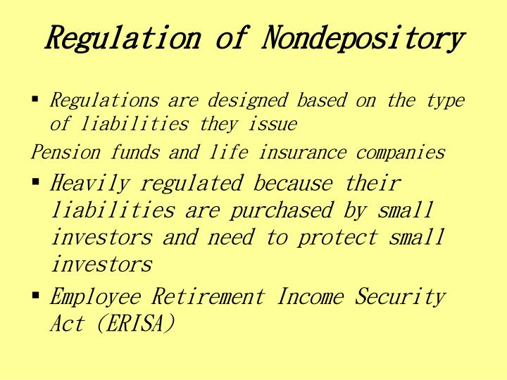 Regulation of Nondepository