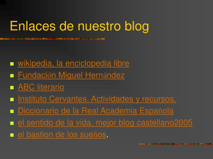 Enlaces de nuestro blog