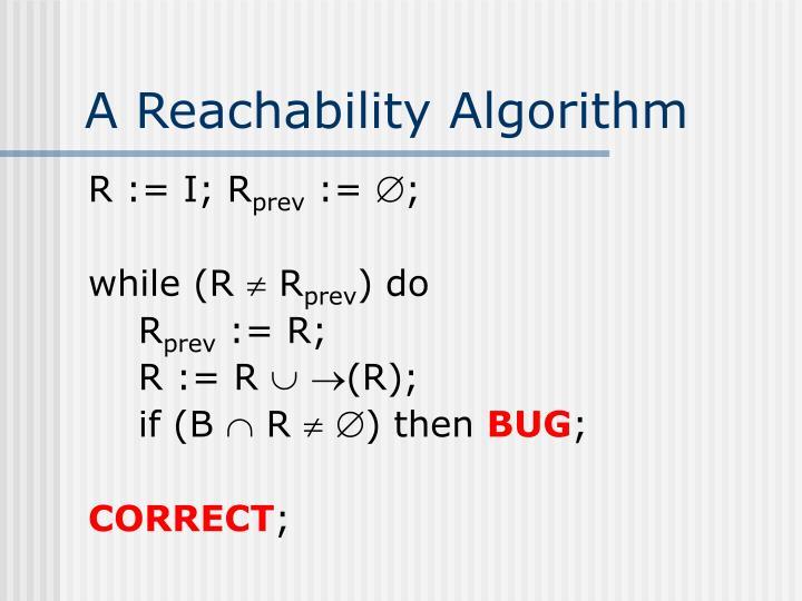 A Reachability Algorithm