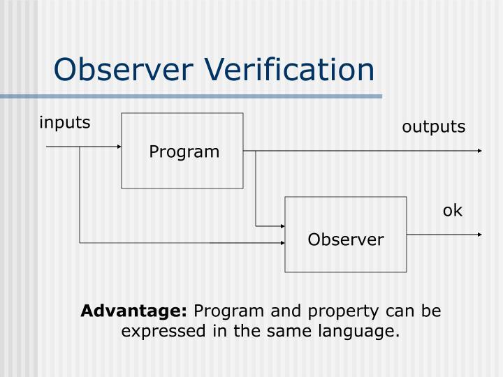 Observer Verification