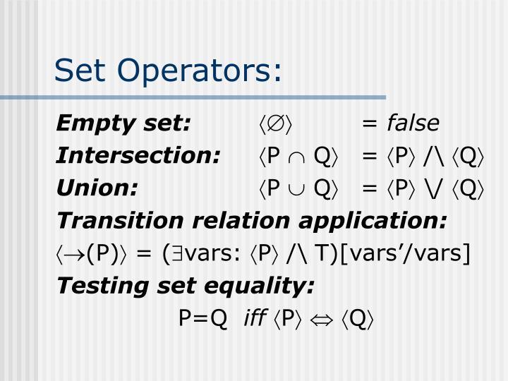 Set Operators: