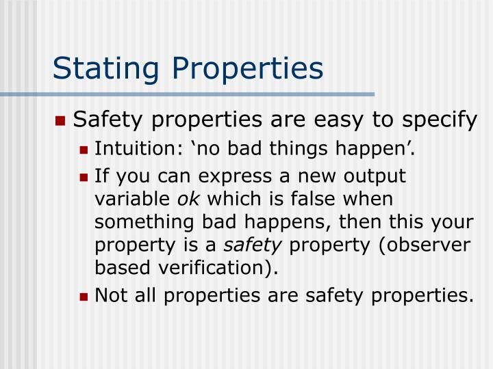 Stating Properties