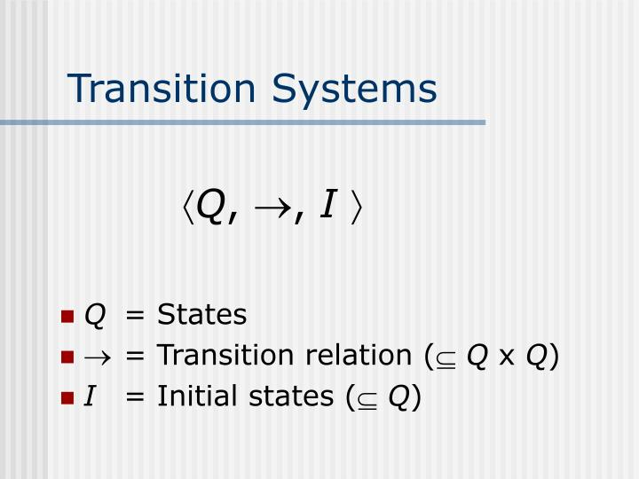 Transition Systems