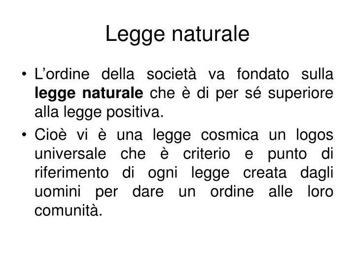 Legge naturale