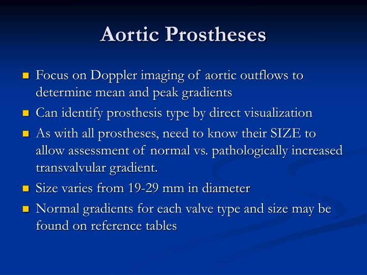 Aortic Prostheses
