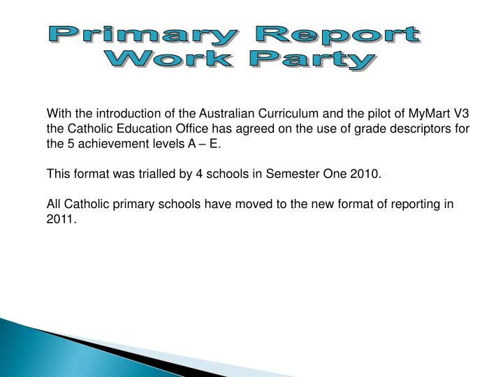 Primary Report