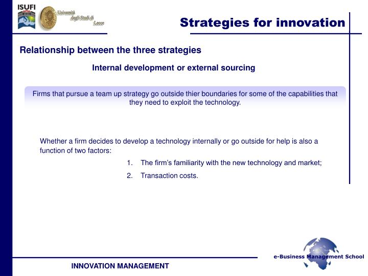 Relationship between the three strategies
