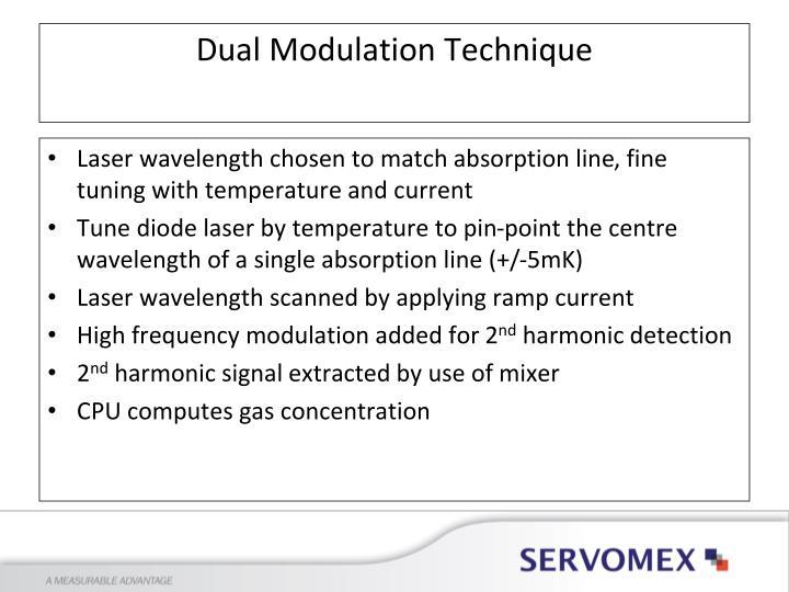 Laser wavelength chosen to match absorption line